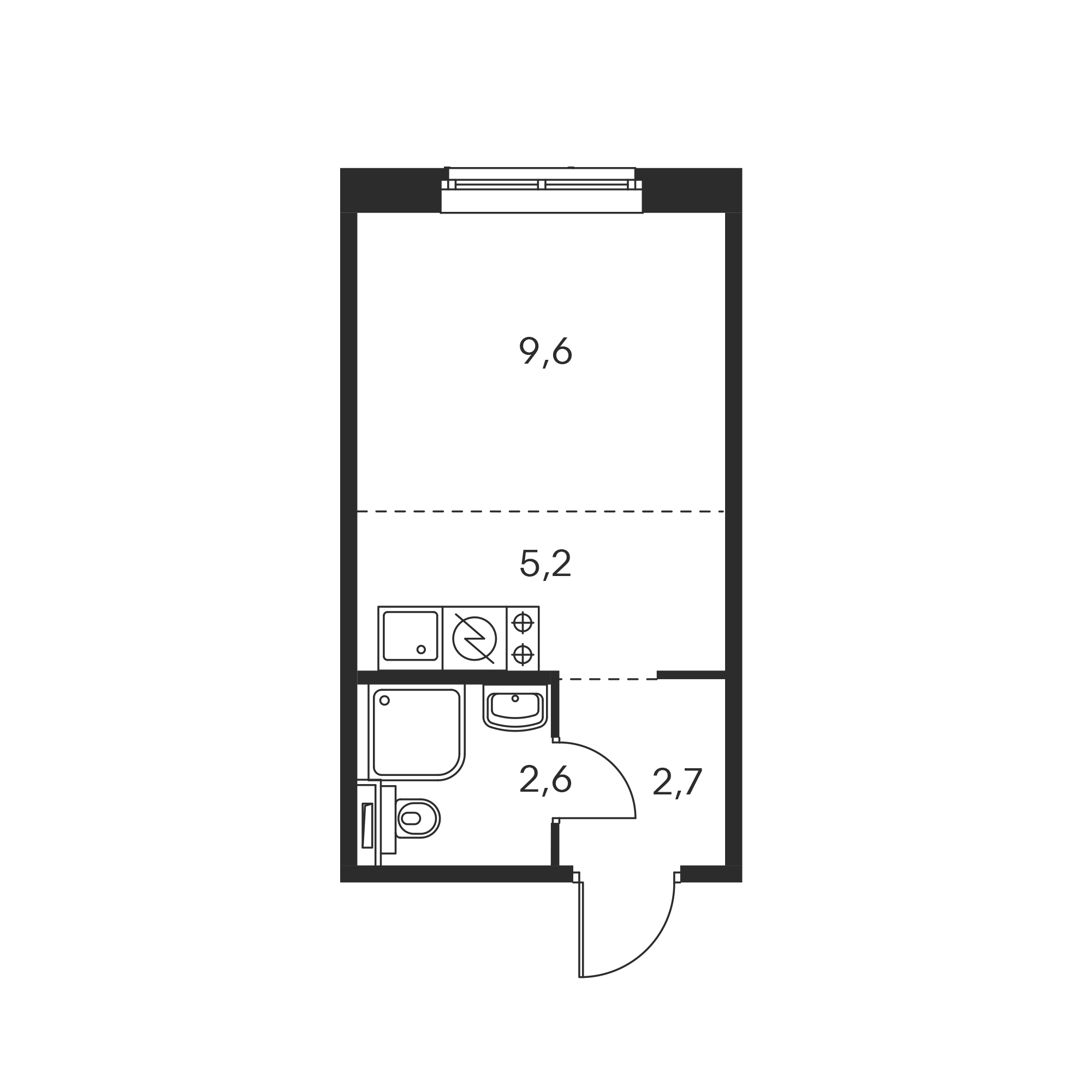 фото 1 ком. квартира - Калужское, жилой комплекс Бунинские Луга (посёлок Коммунарка), м. Бунинская аллея